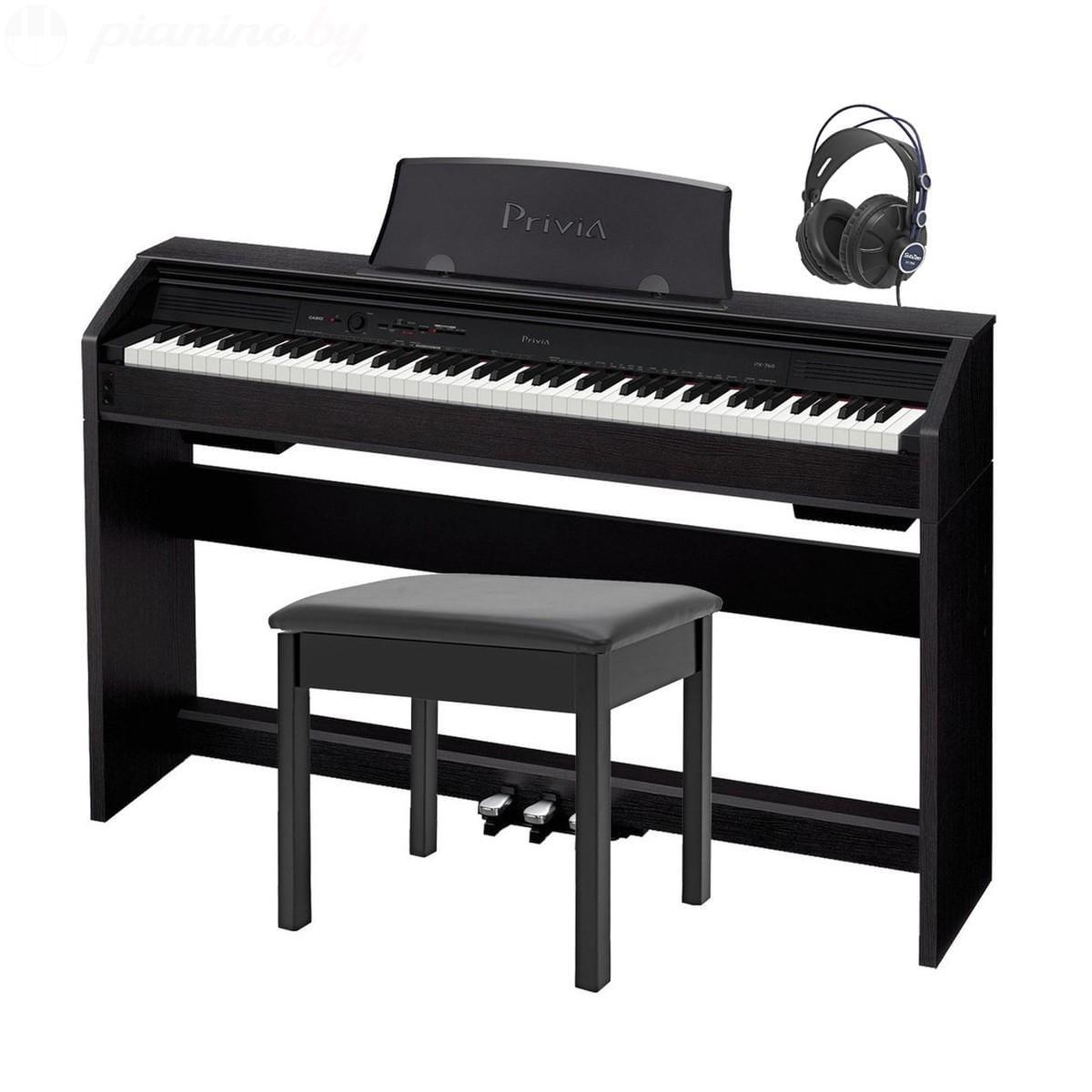 Цифровое пианино Casio PX-760 Black Фото 1