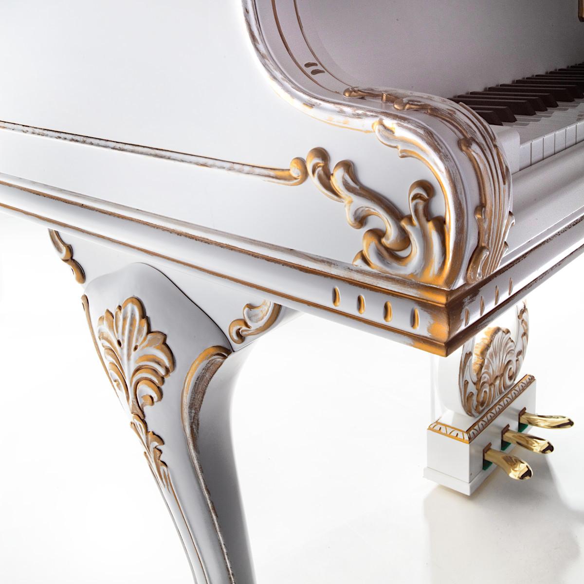 Акустический рояль PETROF P 173 Breeze Rococo белый полированный Фото 4