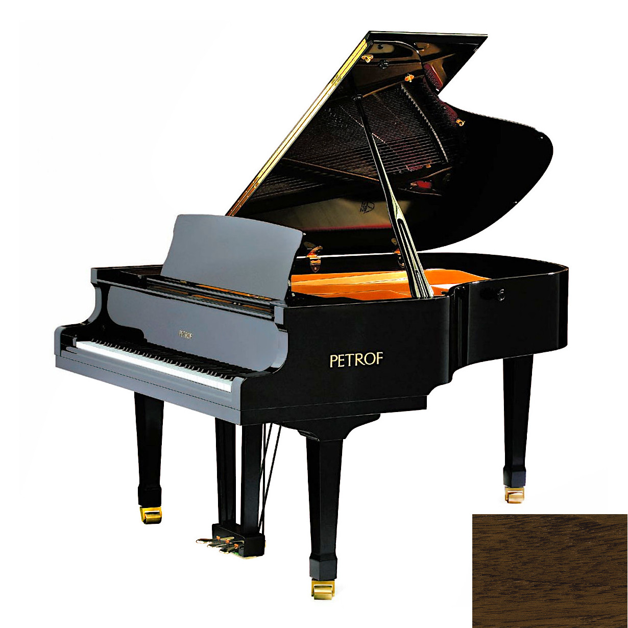 Акустический рояль PETROF P 194 Storm черный Фото 1